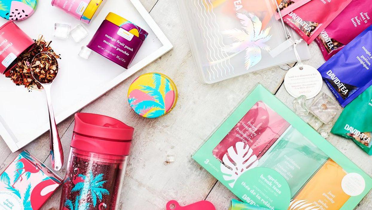 La vente semi-annuelle avec jusqu'à 50% de rabais est débutée chez Davids Tea