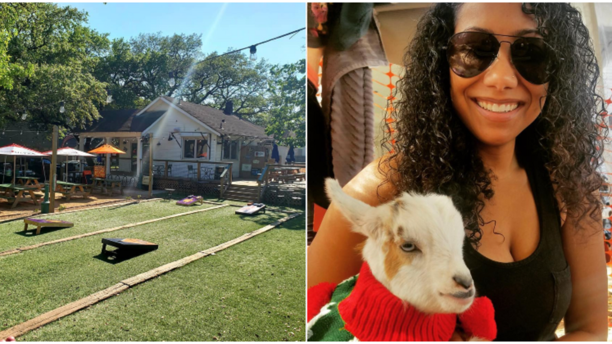 You Can Hang With Goats And Play Adult-Only Boozy Games At This Bar In Houston