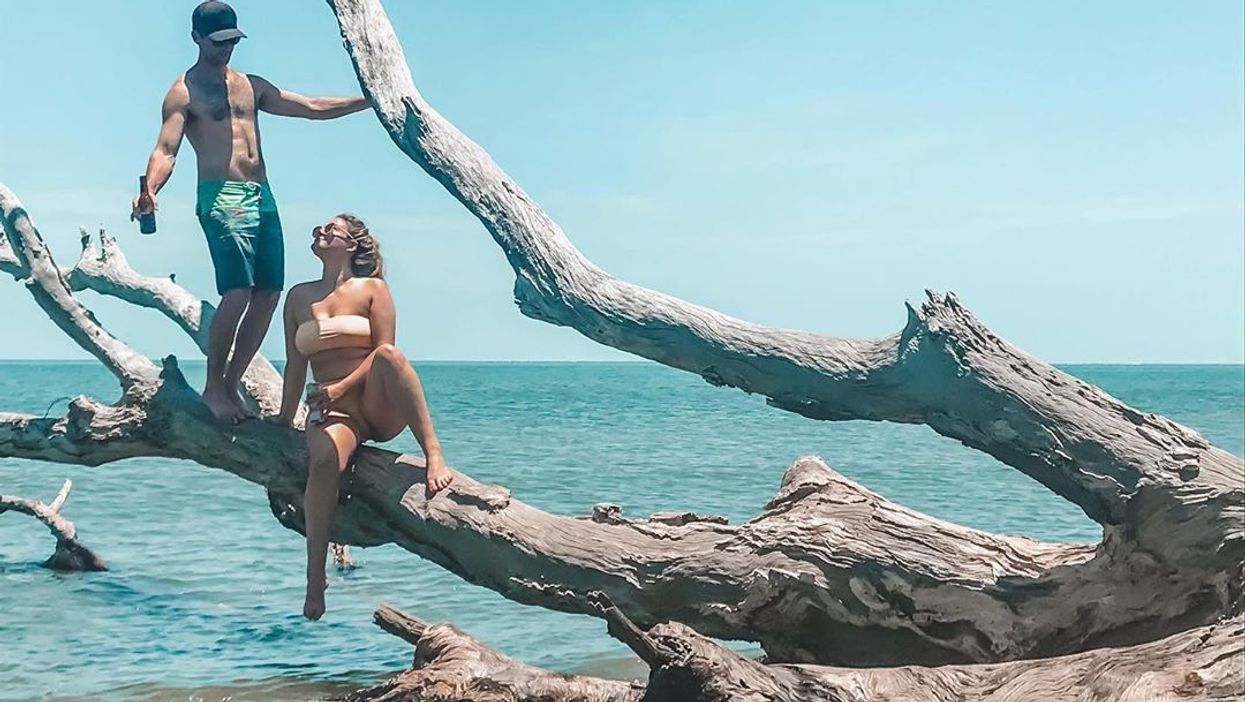 Florida is surrounded with beautiful beaches, from a black sand beach on the Gulf Coast, to the many white sand beauties located throughout, it's hard to choose a favorite. However, the east coast beach in Big Talbot Island State Park definitely stands out from the rest.