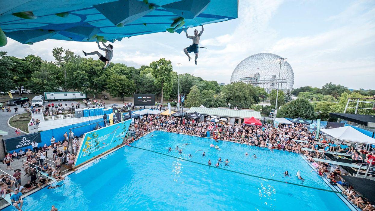 Une compétition extrême d'escalade au-dessus de l'eau aura lieu cet été à Montréal et ça s'annonce très intense