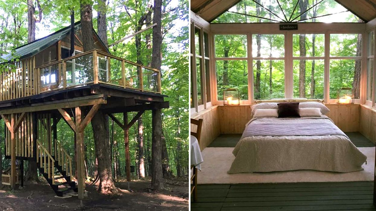 You Can Sleep In This Romantic Treehouse Only 2 Hours From Montreal