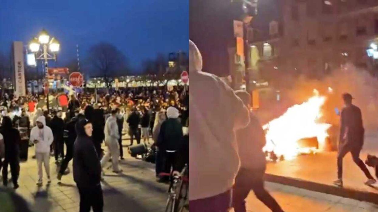La manifestation anti-couvre-feu à Montréal s'est terminée en grabuge (VIDÉO)