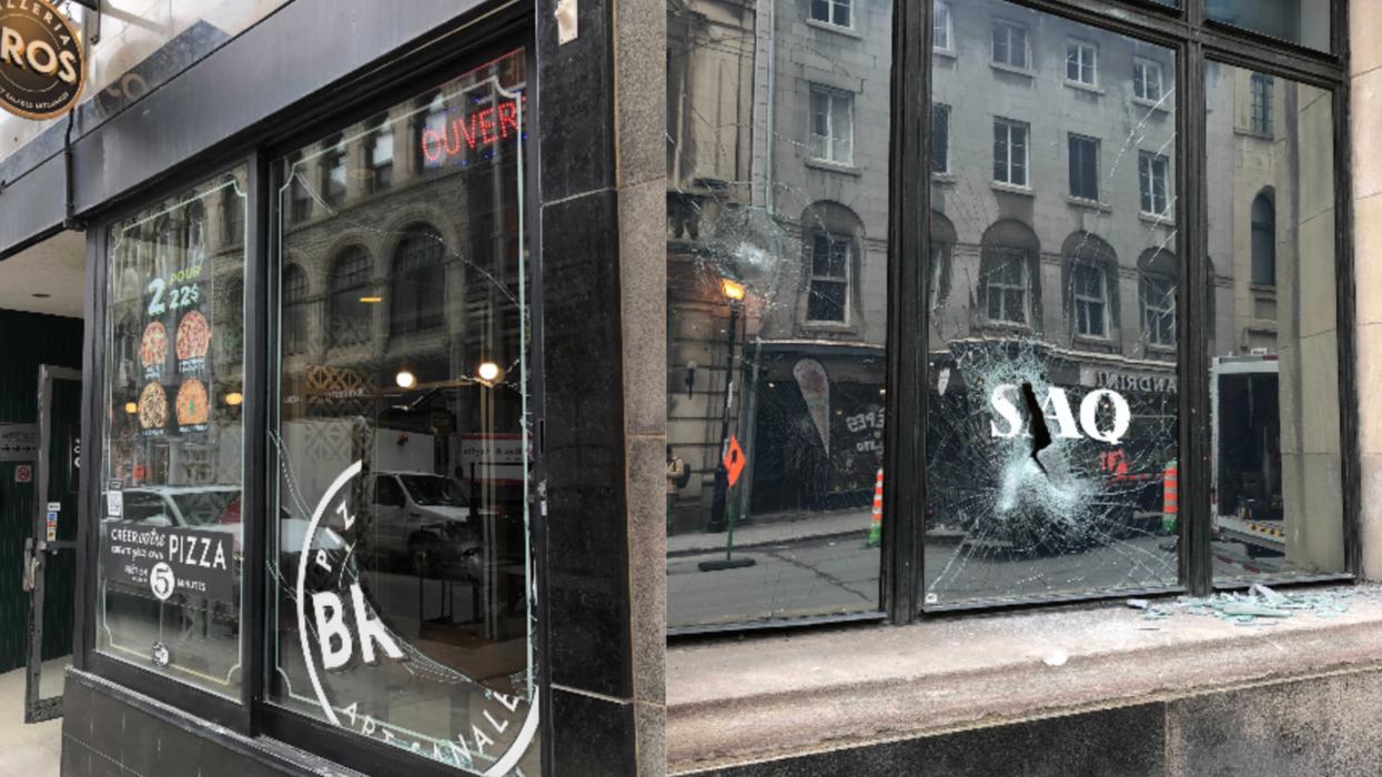 Des commerçants victimes de la manif à Montréal expliquent l'ampleur des dégâts (PHOTOS)