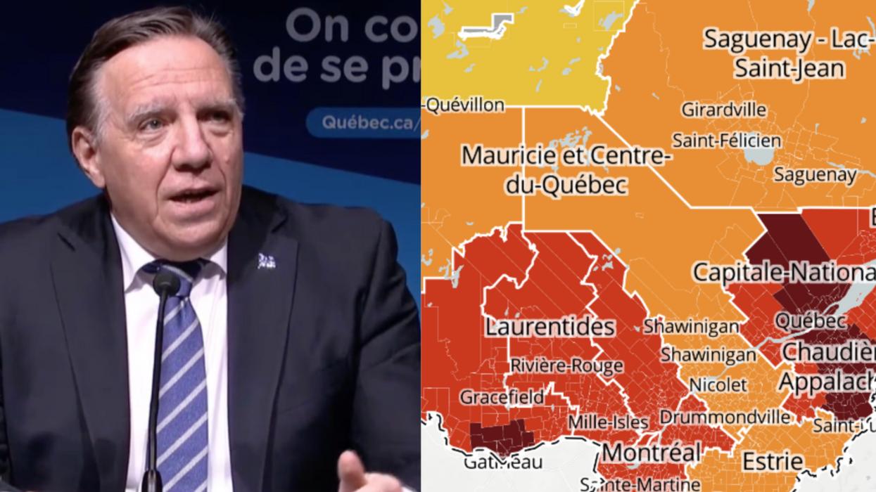 Les mesures spéciales d'urgence prolongées dans les régions en « rouge foncé »au Québec