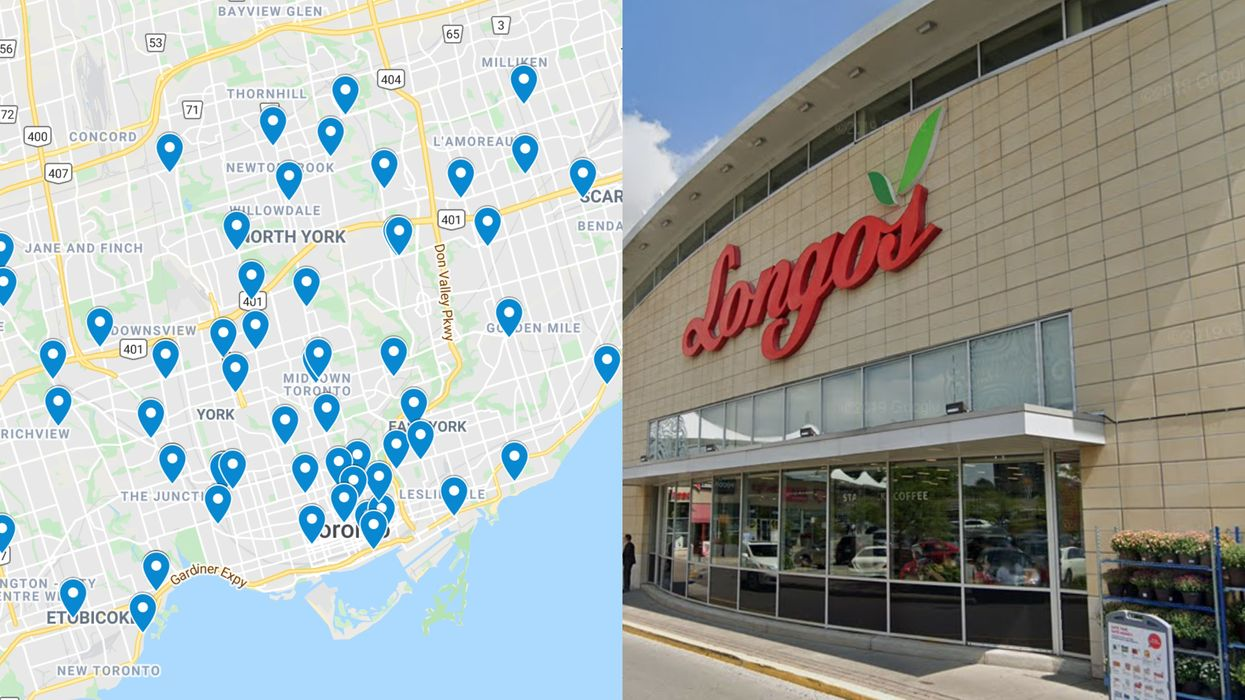 Toronto Grocery Stores With COVID-19: A Map Of Confirmed Cases
