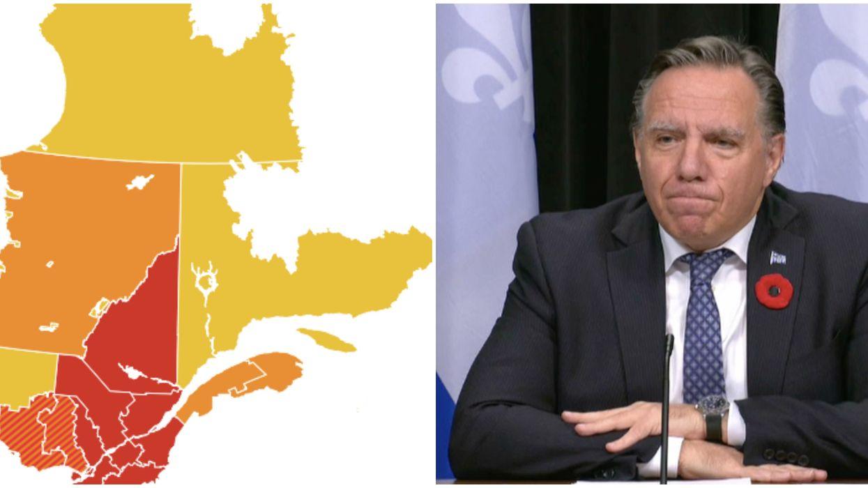 Des secteurs au Québec changent de palier et voici les zones de chaque région