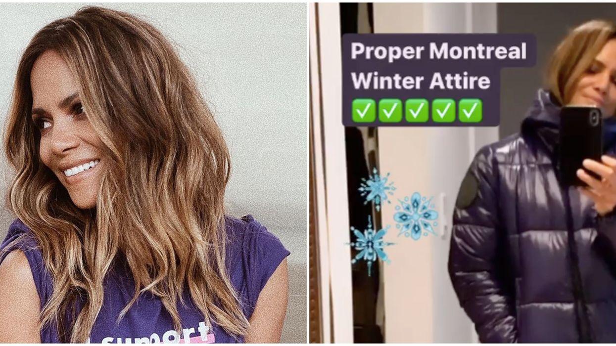 Halle Berry se prépare à affronter les dures températures de l'hiver Québécois