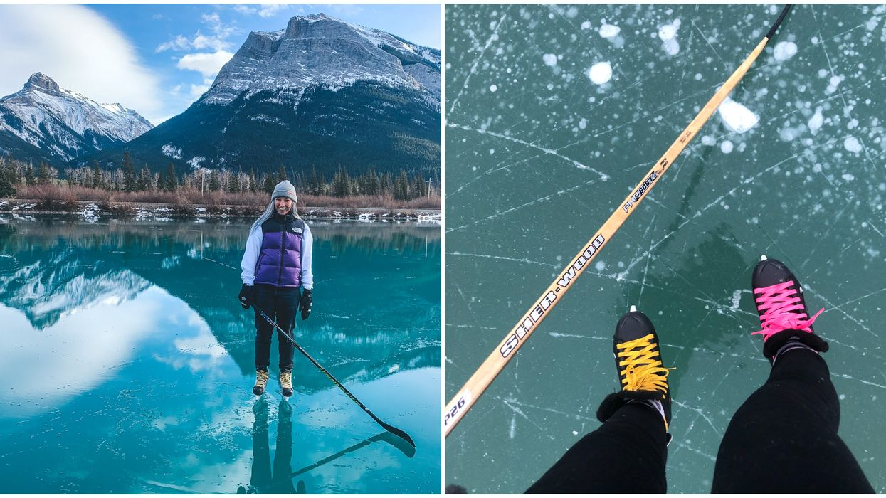 6 Bright Blue Frozen Lakes In The Rockies That You Can Glide Across This Winter