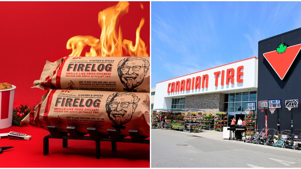 KFC Firelog At Canadian Tire Is Available Now & It Smells Like Fried Chicken