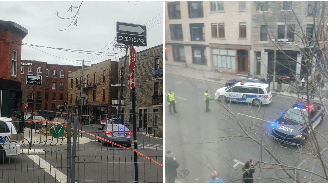 6 photos et vidéos de l'opération policière en cours à Montréal en ce moment