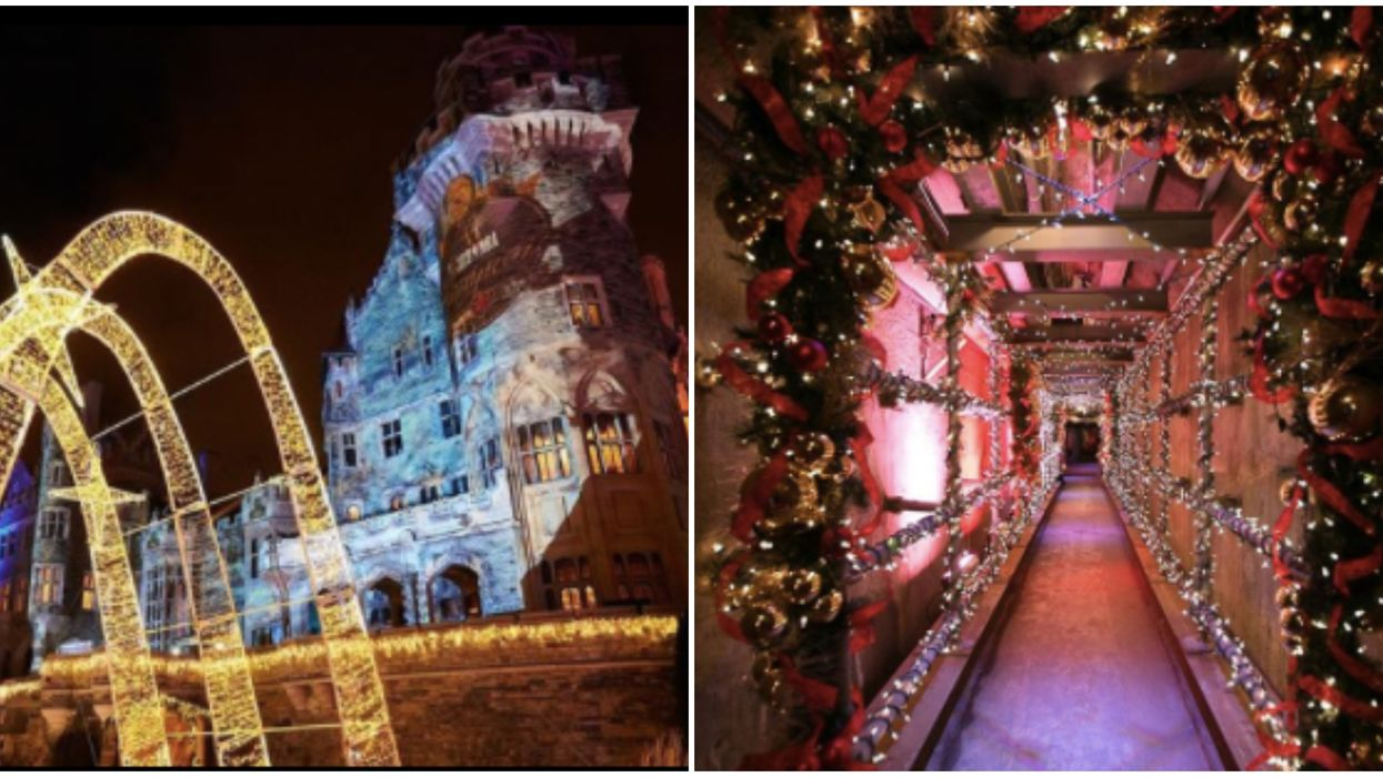 You Can Wander Through Twinkling Lights & Holiday Magic At Casa Loma In Toronto