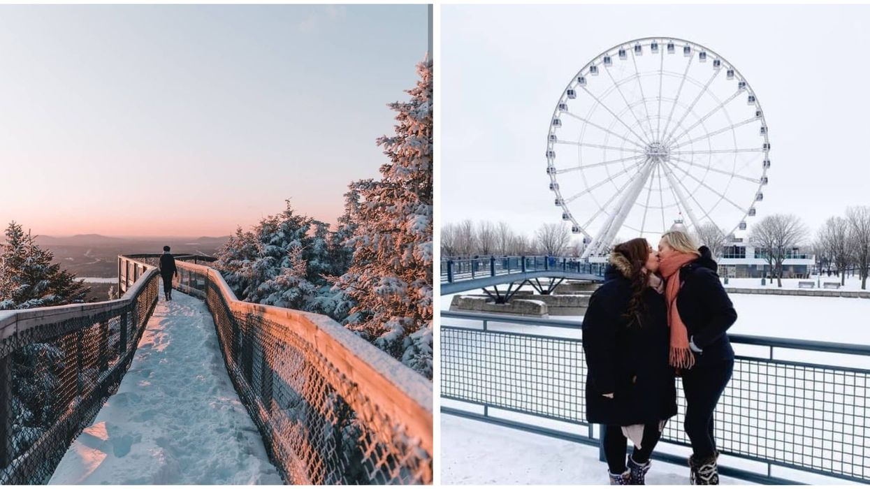 Endroits romantiques en hiver au Québec