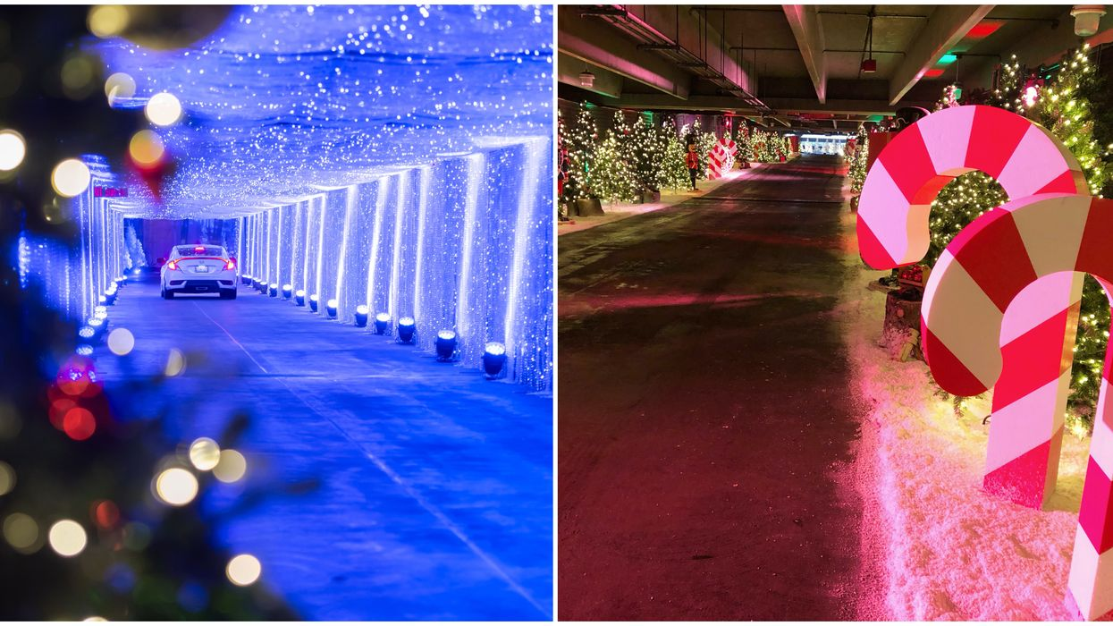Toronto's Multi-Level Christmas Drive-Through Just Opened & It Will Dazzle You (PHOTOS)