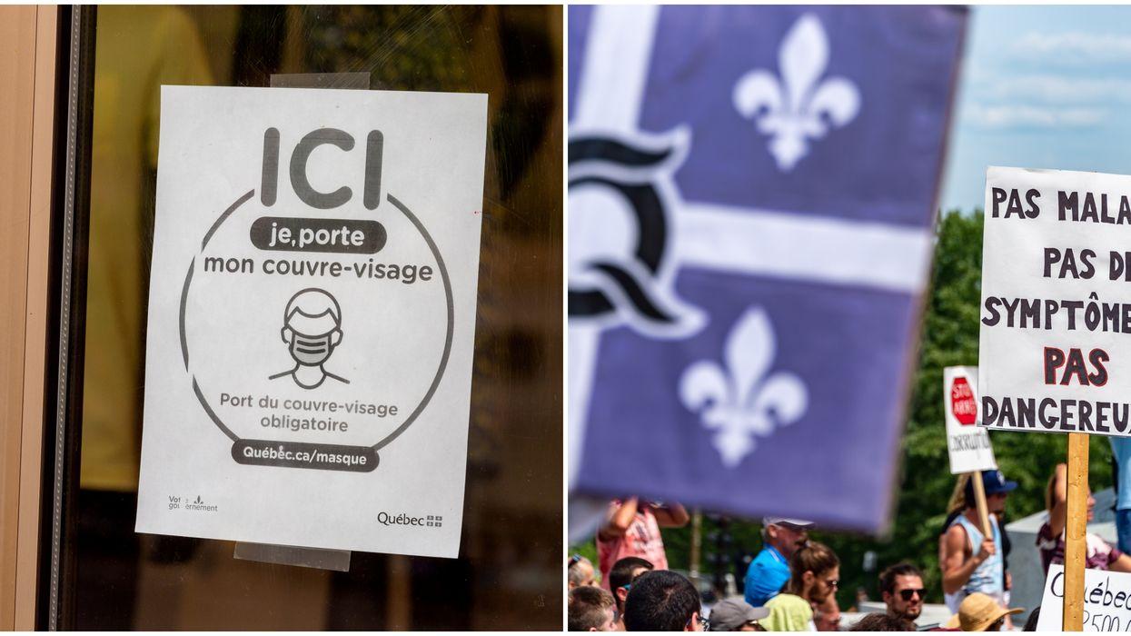 La manifestation contre les mesures sanitaires à Québec fait réagir