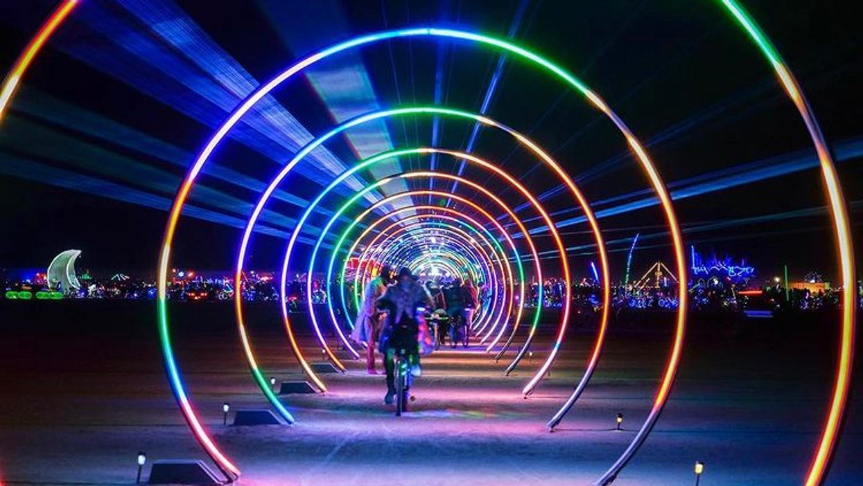 You Can Wander Through A Giant Glowing Rainbow Tunnel At Toronto's Waterfront This Winter