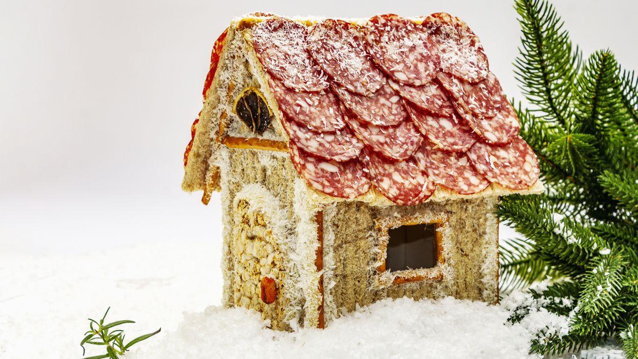 Charcuterie Chalet Charcuterie House Gingerbread House Christmas Holiday Season