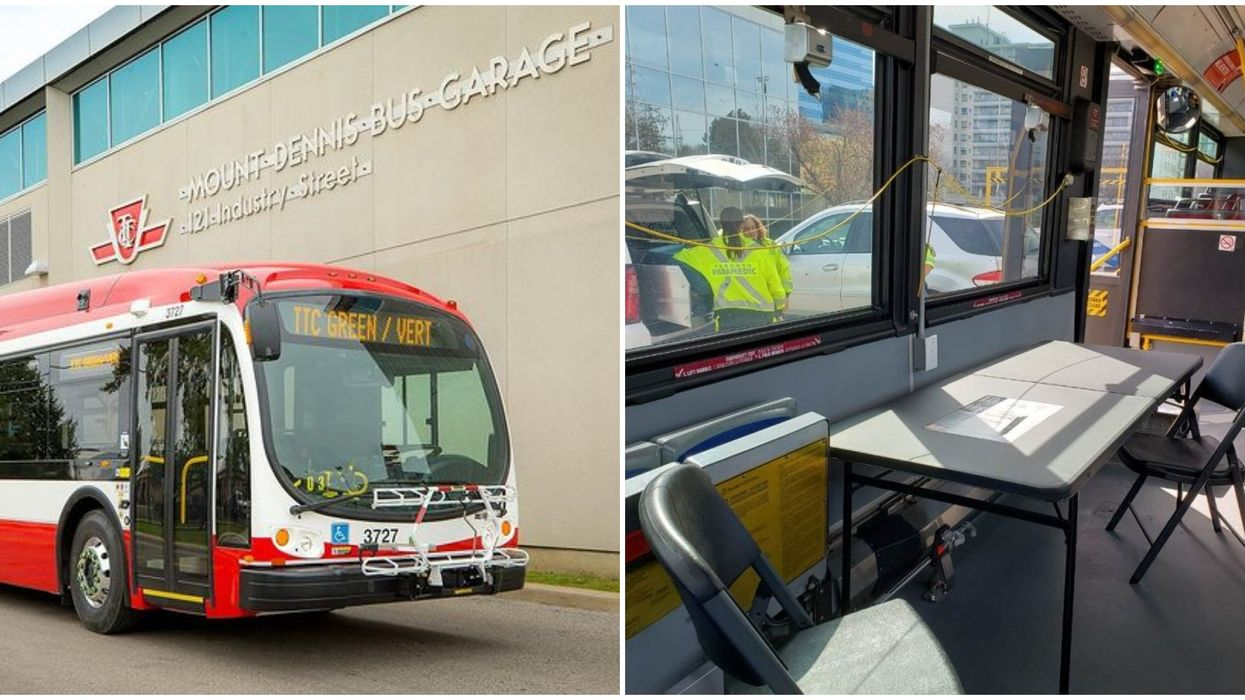 Toronto's COVID-19 Response Now Includes Turning TTC Buses Into Mobile Testing Clinics