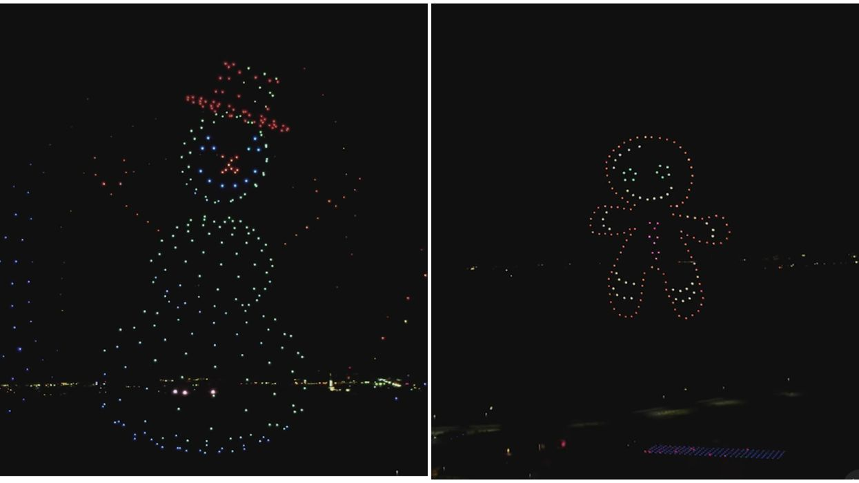 The Coolest Holiday Light Show In The US Uses Actual Drones & Here's What It Looks Like