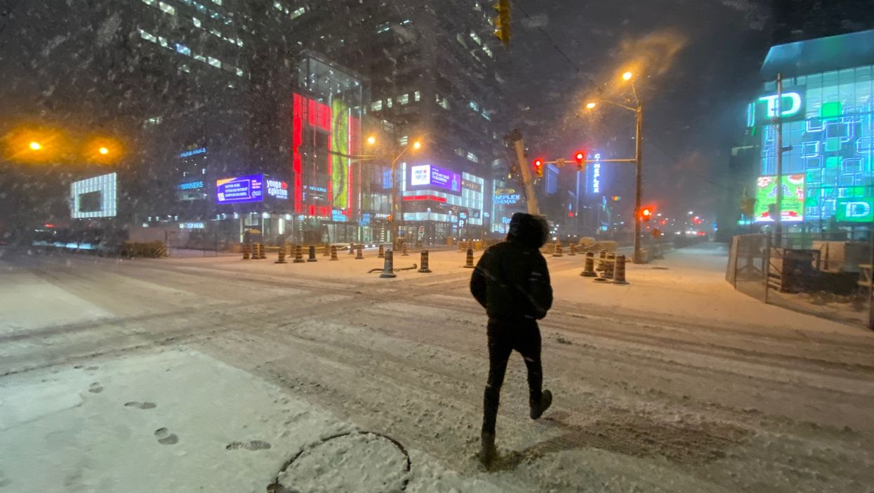 Toronto Was Totally Covered In Snow Overnight & Conditions Could Be Dangerous