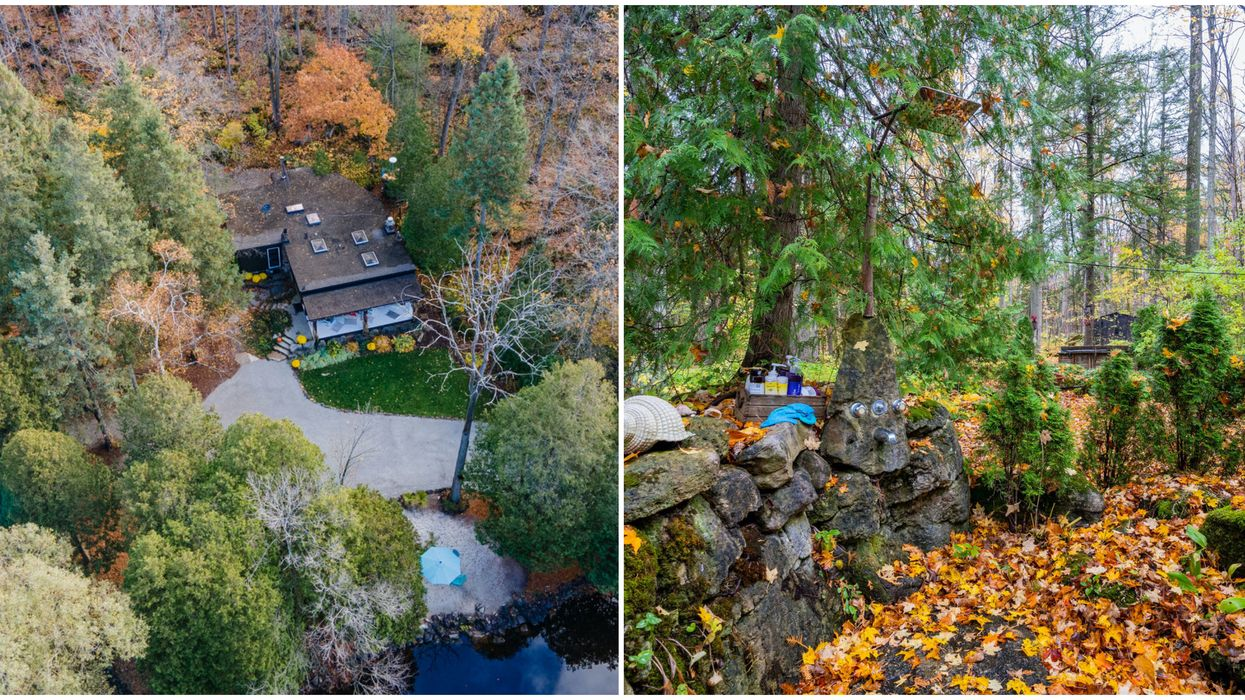This Serene Dream Home For Sale In Ontario Has A Secret Shower In The Woods (PHOTOS)