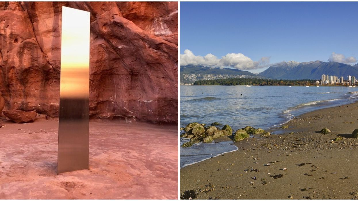 Two More Monoliths Just Made An Appearance On Canada's West Coast (PHOTO)