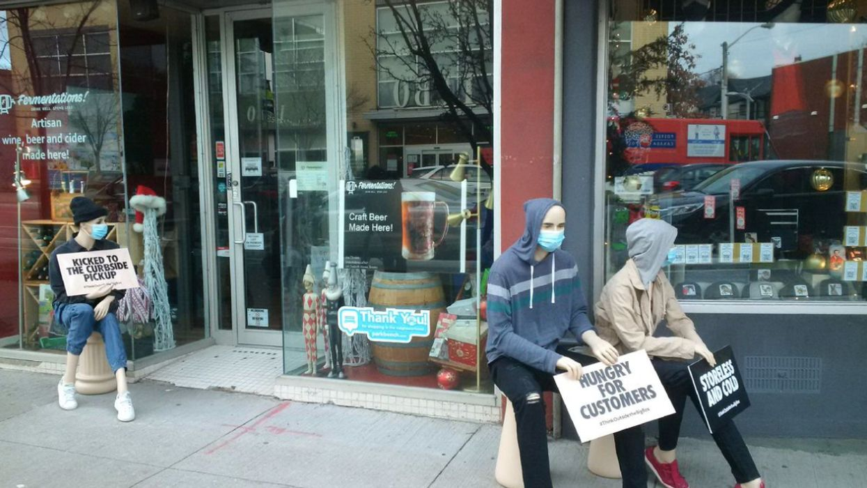 Toronto Mannequins Are Being Place On Sidewalks To Demand People Save Small Businesses