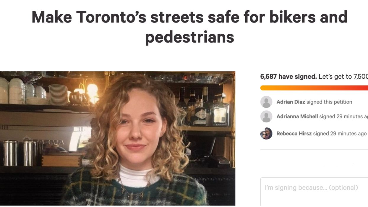 Toronto Cylist's Death Spurs Thousands To Sign A Petition Calling For Change