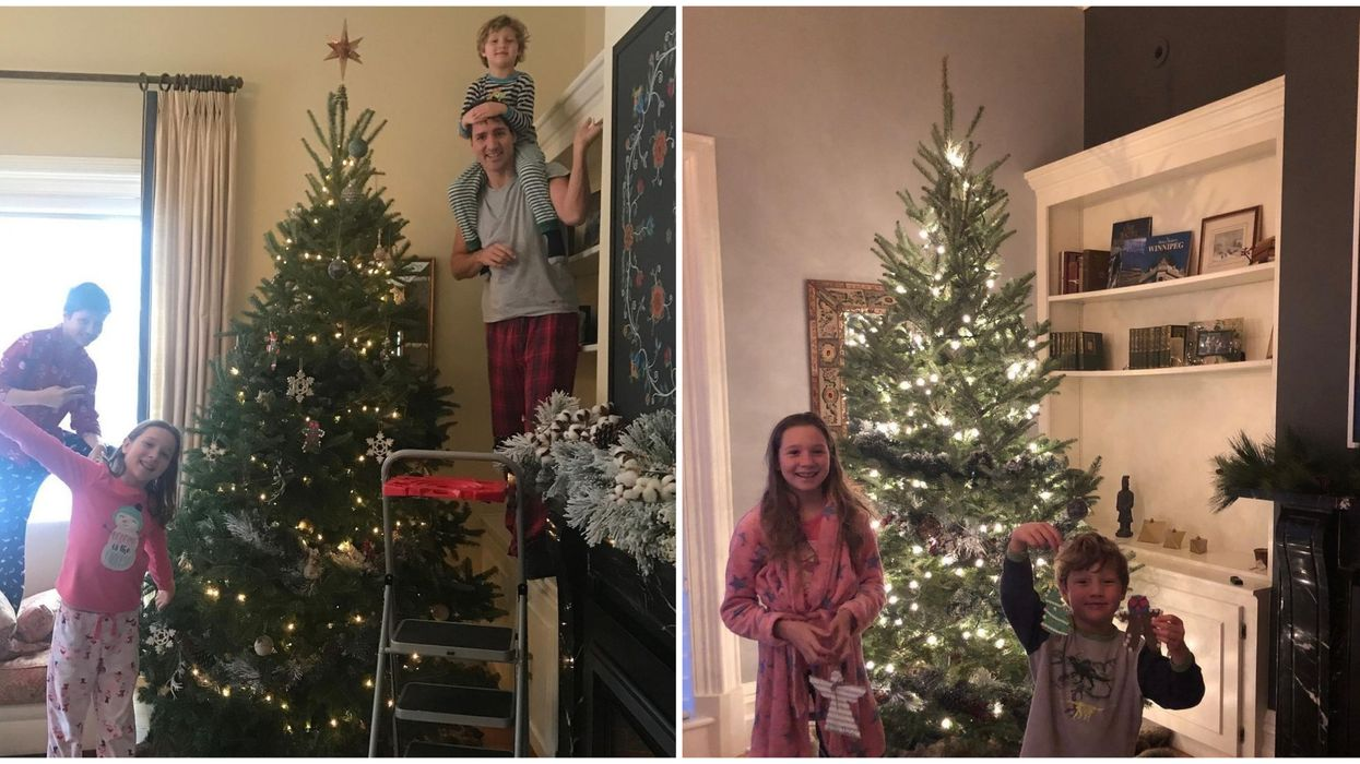 Justin Trudeau's Family Has Once Again Taken Christmas Tree Decorating To New Heights