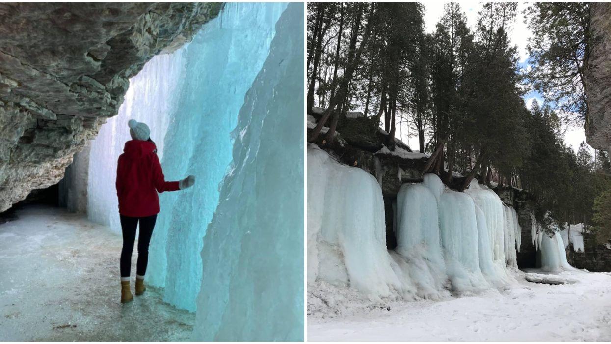 Sentiers d'hiver près de Québec : cet endroit ressemble à l'intérieur d'un glacier