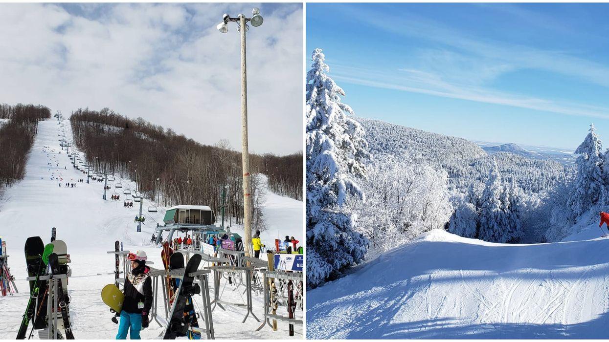 Stations de ski à moins de 2 heures de Montréal qui vendent des billets d'une journée