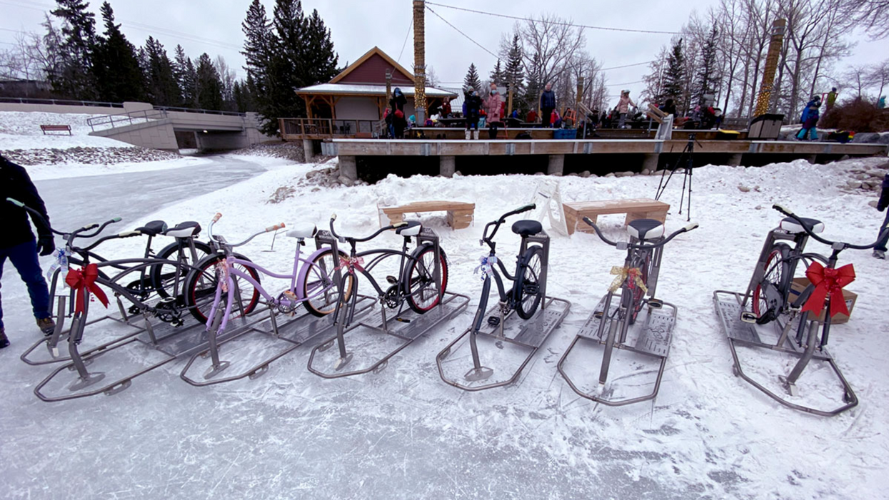 Calgary Has Canada's First Ever 'Ice Bikes' & You Can Rent Them This Winter