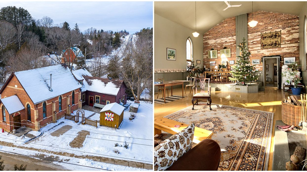 Ontario's Spacious Church Home Is Nestled In A Quaint Village & Costs $650K (PHOTOS)