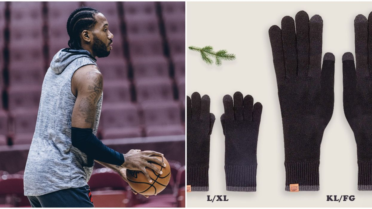 Kawhi Leonard Can Keep His Hands Warm With These Giant Pair Of Gloves From Roots