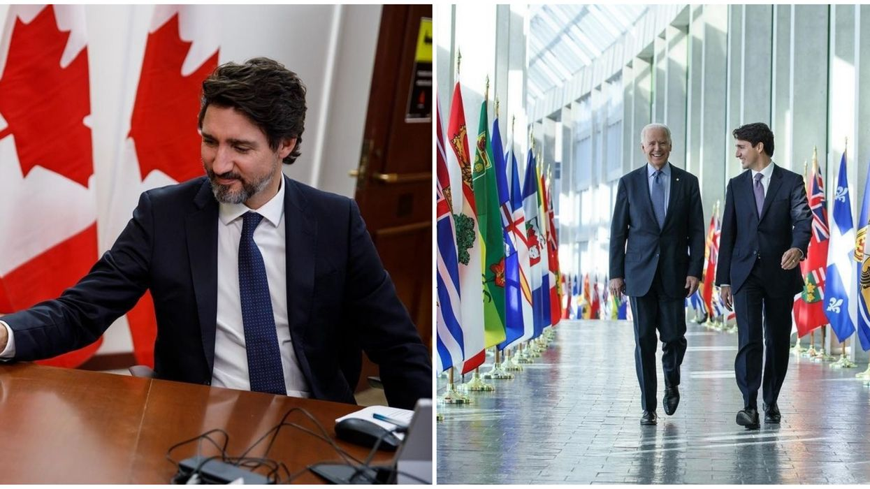 Justin Trudeau's Instagram Best Nine Of 2020 Includes A Photo Of Him With Joe Biden
