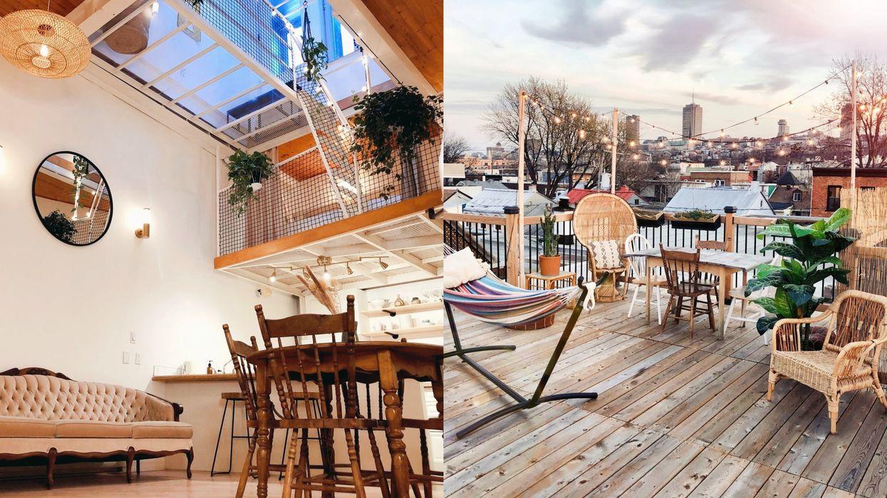 Airbnb à Québec avec une terrasse sur le toit