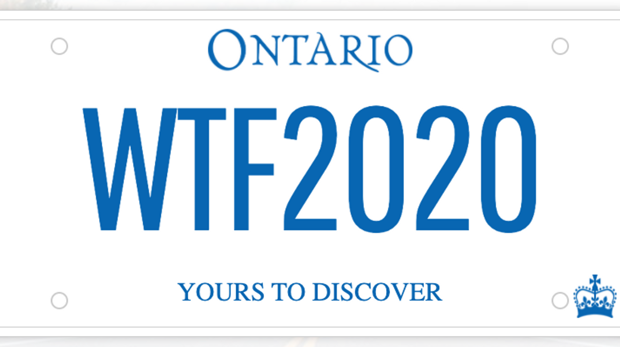 Ontario Released A List Of Rejected Licence Plates From 2020 & They Are Hilarious