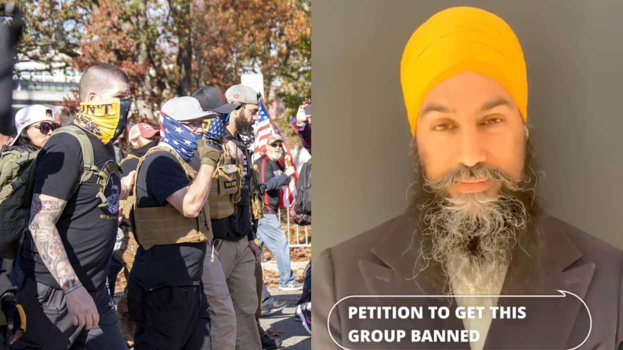 'Proud Boys' In Canada Should Be Officially 'Designated As Terrorists' Says Jagmeet Singh