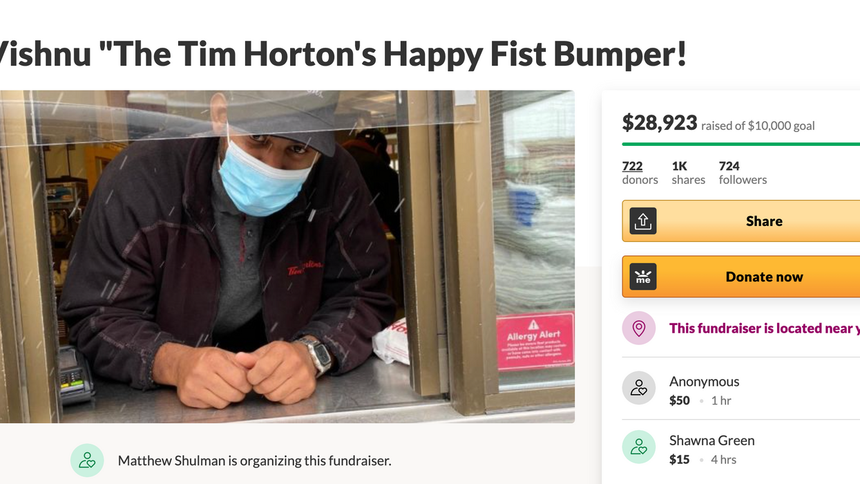 Ontario Tim Hortons Worker Got $28k From His Community For His Hard Working Smile