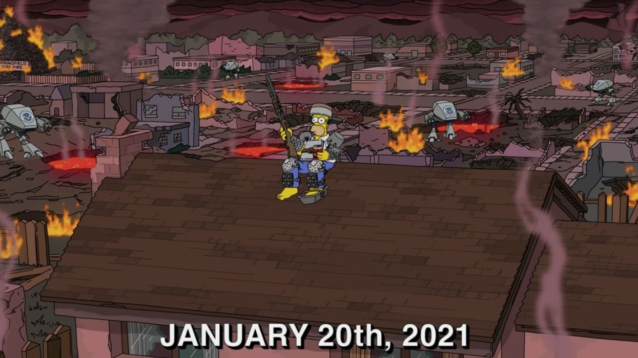 The Simpsons Actually Predicted The US Capitol Riots (VIDEO)