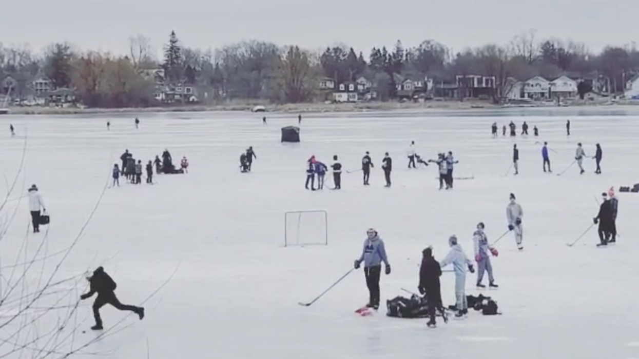 People Have Been Making The Best Of Winter On This Frozen Bay Near Toronto (VIDEO)