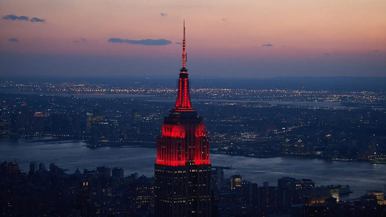 Empire State Building Lights New York City Manhattan