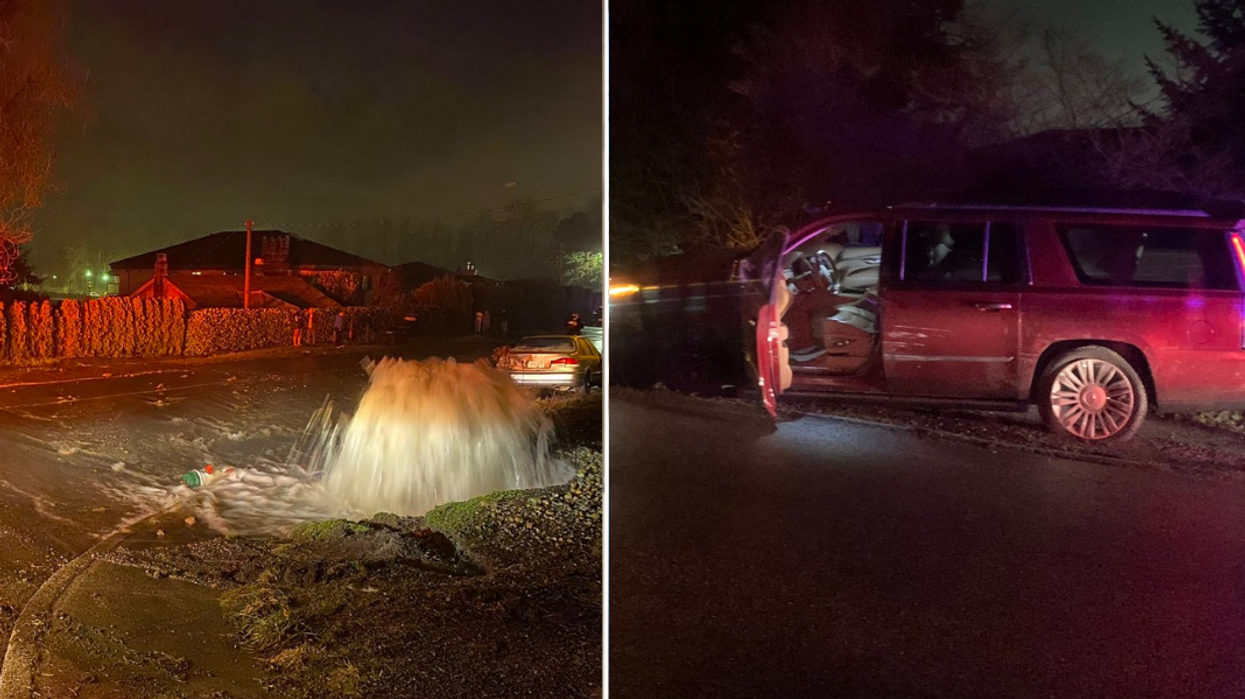 Suspected Drunk Driver Wreaked Havoc In BC & Flooded Several Homes Then Tried To Run Away
