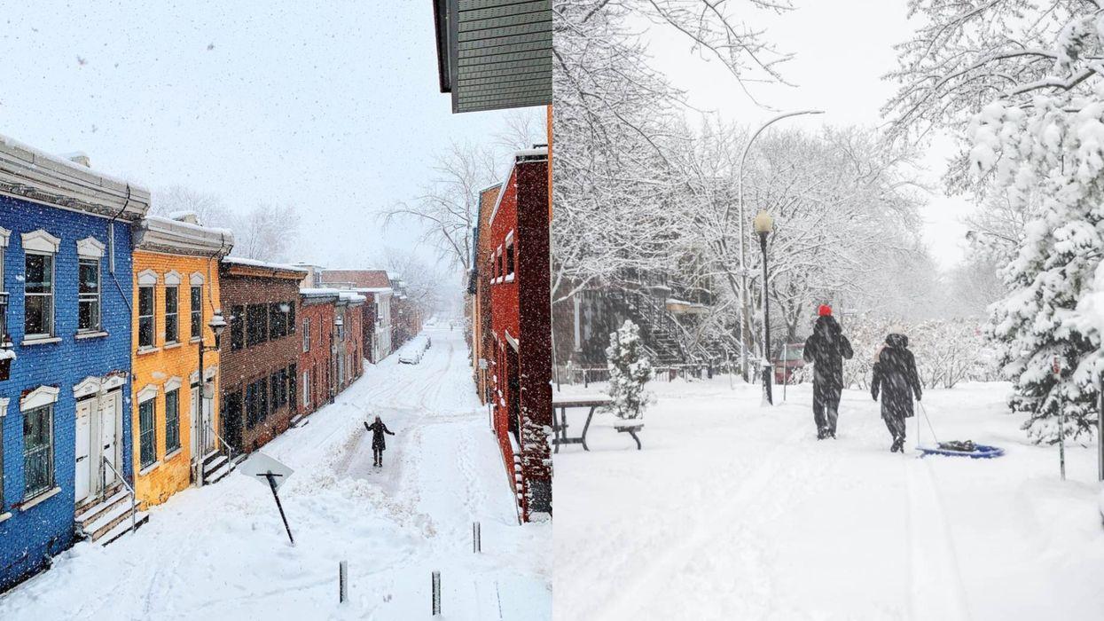 8 photos de la première tempête de 2021 qui prouvent que l'hiver est magique à Montréal