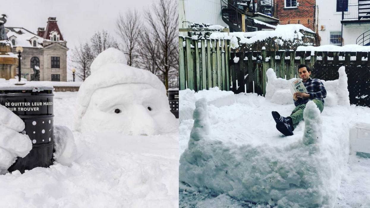 19 photos impressionnantes des sculptures de neige faites par les Montréalais