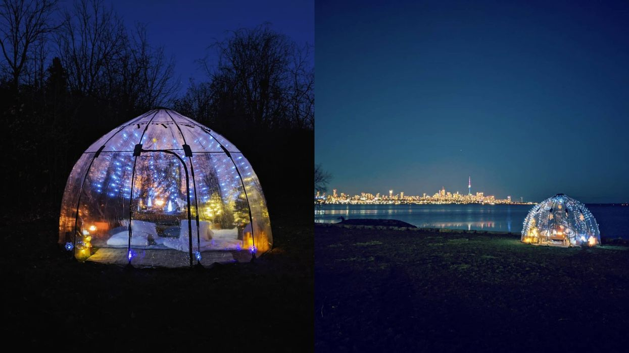 Picnic City's Winter Wonderland Bubble Lets You Celebrate Valentine's Day Under The Stars