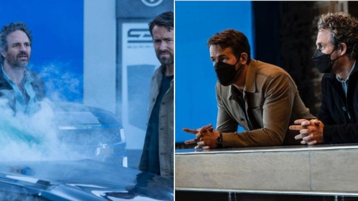 Ryan Reynolds Just Called Mark Ruffalo His 'Friend From Work' While Filming In Vancouver