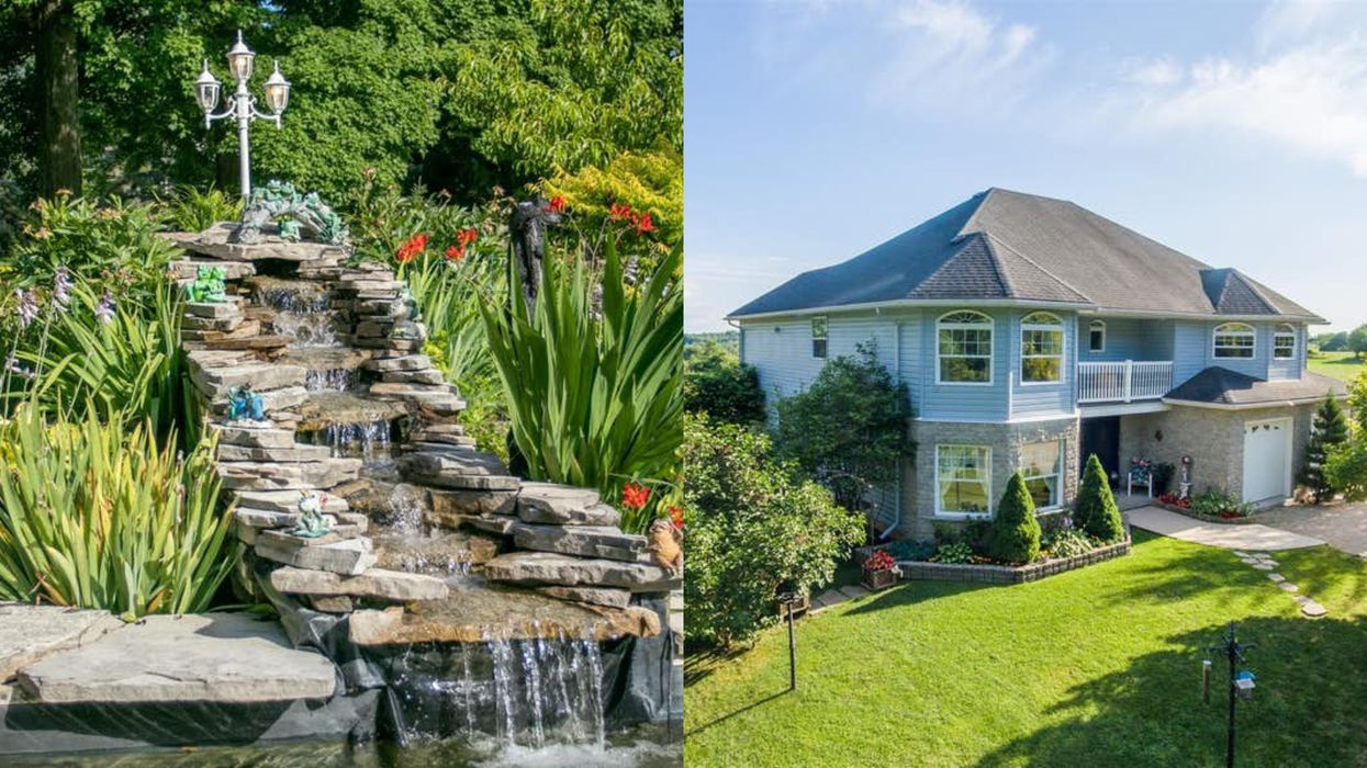 This Huge Ontario Home Is Selling For Under $700K & It Comes With Its Own River