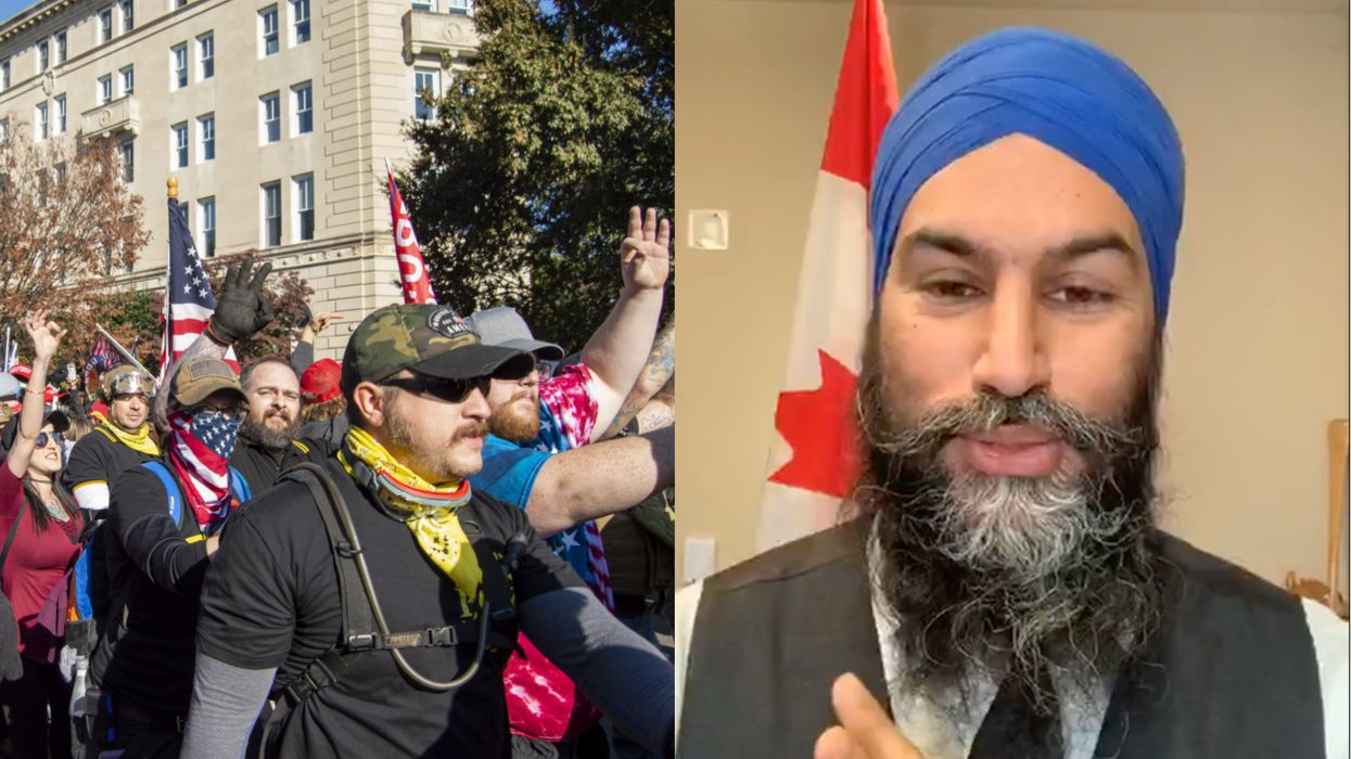 Proud Boys Are A Terrorist Group In Canada & Jagmeet Singh Says It's A 'Victory'