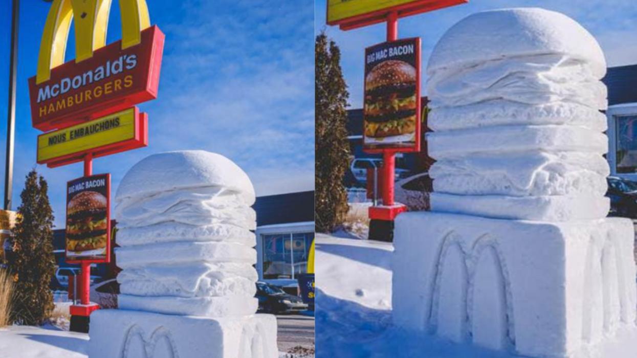 Cet énorme Big Mac devant un McDonald's du Saguenay fait fureur à travers le Canada