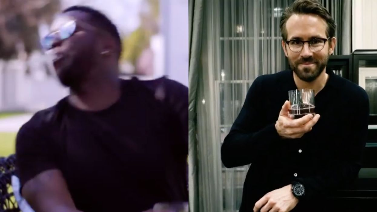 Ryan Reynolds Made Awful Drinks For David Beckham & P. Diddy To Promote His Booze (VIDEO)